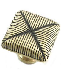 Seat Cushion Knob 1 3/8-Inch in Satin Antique Brass