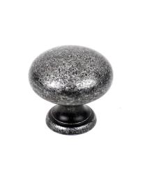 Elegance Solid Brass Knob, Aged Silver, 1 1/4 inch dia