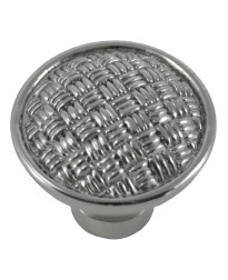 Rattan Knob 1 1/4-Inch in Polished Nickel