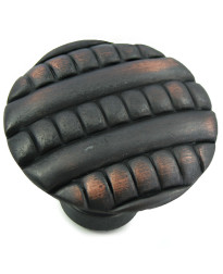 Ribbed Knob 1 3/8-Inch in Oil Rubbed Bronze