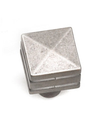 7/8-Inch Kama Square Knob in Antique Pewter