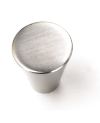 3/4-Inch Delano Small Cone Knob in Brushed Satin Nickel