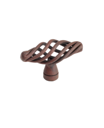 "Orleans 2"" Birdcage T-Knob, Natural Rust"