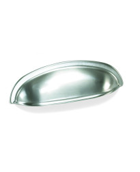 3-Inch Nantucket Cup Pull in Satin Pewter