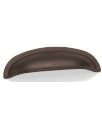 3-Inch Nantucket Cup Pull in Oil Rubbed Bronze