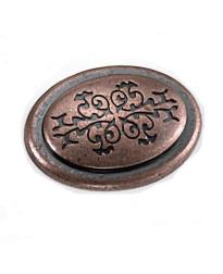 Oval Cimarron Knob 1 3/8-Inch in Antique Copper