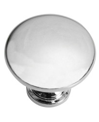 Hollow Steel Knob 1 3/8-Inch in Polished Chrome