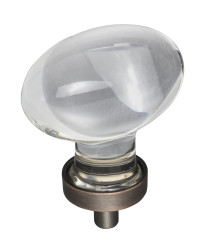 """Harlow 1-5/8"""" Glass Cabinet Knob in Brushed Oil Rubbed Bronze"""