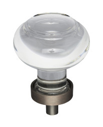 """Harlow 1-7/16"""" Diameter Glass Cabinet Knob in Brushed Oil Rubbed Bronze"""