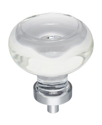 """Harlow 1-3/4"""" Diameter Glass Cabinet Knob in Polished Chrome"""