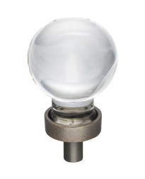 """Harlow 1-1/16"""" Diameter Glass Cabinet Knob in Brushed Oil Rubbed Bronze"""