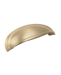 Ashby 4 in (102 mm) & 3 in (76 mm) Center-to-Center Golden Champagne Cabinet Cup Pull