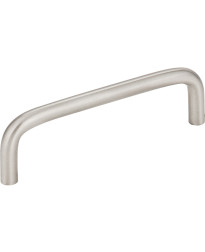 "Torino 4"" Centers Steel Wire Pull in Stainless Steel"