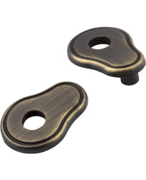 "Escutcheons 3"" to 3 3/4"" Transitional Adaptor Backplates in Antique Brushed Satin Brass"
