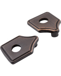 "Escutcheons 3"" to 3 3/4"" Transitional Adaptor Backplates in Brushed Oil Rubbed Bronze"