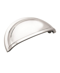 Cup Pulls 3 in (76 mm) Center-to-Center Polished Chrome Cabinet Cup Pull