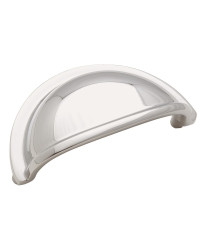 Solid Brass Cup Pulls 3 in (76 mm) Center-to-Center Polished Chrome Cabinet Cup Pull