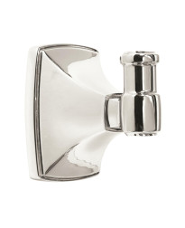 Clarendon Single Robe Hook in Polished Chrome