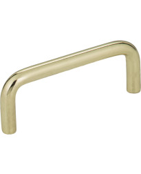 "Torino 3"" Centers Steel Wire Pull in Polished Brass"