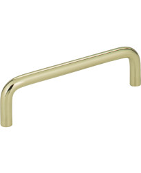 "Torino 4"" Centers Steel Wire Pull in Polished Brass"