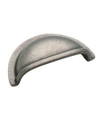 Solid Brass Cup Pulls 3 in (76 mm) Center-to-Center Weathered Nickel Cabinet Cup Pull