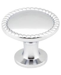 "Lindos 1 1/4"" Round Knob in Polished Chrome"