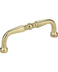 "Madison 3"" Centers Turned Pull in Polished Brass"