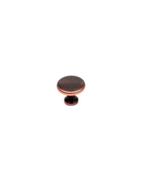Builder's Choice Knob, Oil Rubbed Bronze with Highlights, 1 3/16 inch dia