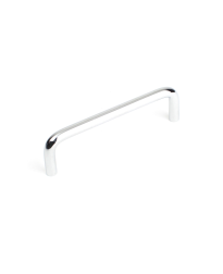 Builder's Choice D-Pull, Polished Chrome, 4 inches cc