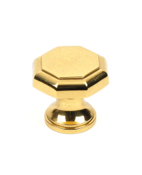 Classique Solid Brass Knob, Polished Brass, 1 1/4 inch