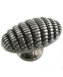 Honeycomb Egg Knob 1 7/8-Inch in Satin Nickel Antique