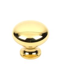 Saturn Hollow Brass Knob, Polished Brass, 1 1/4 inch dia