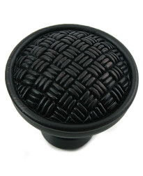 Rattan Knob 1 1/4-Inch in Oil Rubbed Bronze