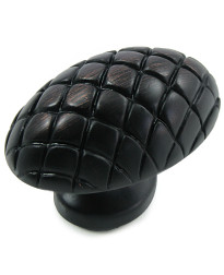 Quilted Egg 1 1/2-Inch in Oil Rubbed Bronze