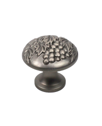 "Vineyard 1-3/8"" Diameter Knob, Antique Nickel"