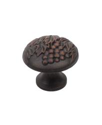 "Vineyard 1-3/8"" Diameter Knob, Copper, Weathered Bronze"