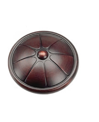Kama Flower Knob 1 1/2-Inch in Oil Rubbed Bronze