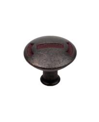 "Medieval 1-3/16"" Diameter Knob, Olde Iron Rust"