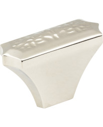 """Solana 2"""" Hammered Texture Knob in Polished Nickel"""