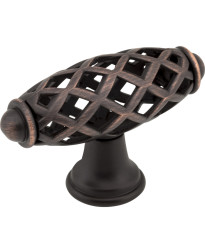 "Tuscany 2 5/16"" Bird Cage Knob in Brushed Oil Rubbed Bronze"