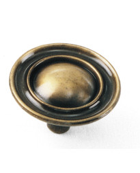 Classic Traditions Ambassador Knob 1 1/2-Inch in Antique Brass