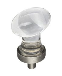 """Harlow 1-1/4"""" Glass Cabinet Knob in Brushed Pewter"""