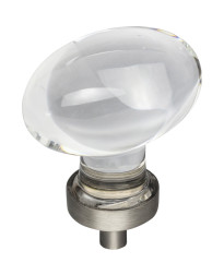 """Harlow 1-5/8"""" Glass Cabinet Knob in Brushed Pewter"""