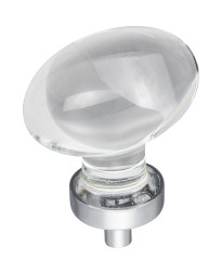 """Harlow 1-5/8"""" Glass Cabinet Knob in Polished Chrome"""