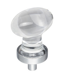 """Harlow 1-1/4"""" Glass Cabinet Knob in Polished Chrome"""