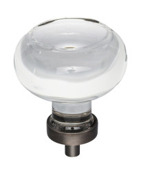 """Harlow 1-3/4"""" Diameter Glass Cabinet Knob in Brushed Oil Rubbed Bronze"""