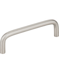 "Torino 3 3/4"" Centers Steel Wire Pull in Stainless Steel"
