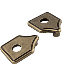 "Escutcheons 3"" to 3 3/4"" Transitional Adaptor Backplates in Lightly Distressed Antique Brass"