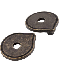 "Escutcheons 3"" to 3 3/4"" Transitional Adaptor Backplates in Distressed Antique Brass"