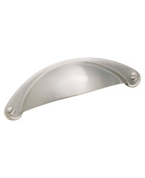 Cup Pulls 2-1/2 in (64 mm) Center-to-Center Satin Nickel Cabinet Cup Pull